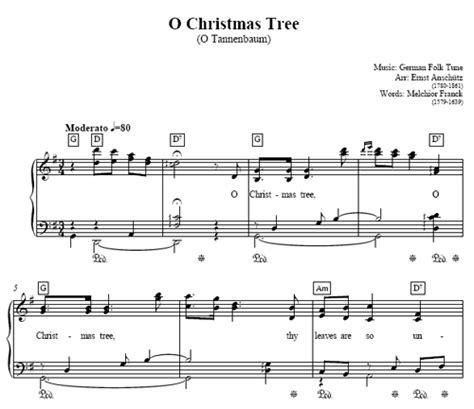 o christmas tree piano sheet music