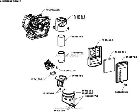 kohler ch  gross power   rpm  hp  kw parts diagram  air intakefiltration