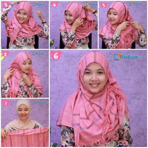 tutorial hijab pashmina bahan satin wajah bulat 15 tutorial hijab pashmina wajah bulat simple jilbab