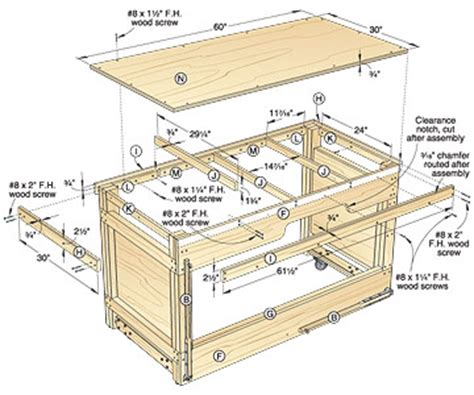 workbench plans table  plans