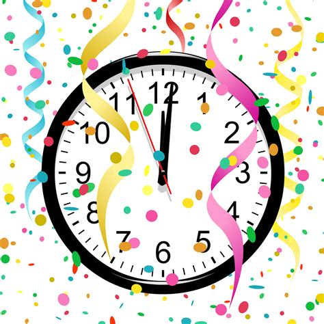 new year clip set clock clipart happy new year pencil and in color clock