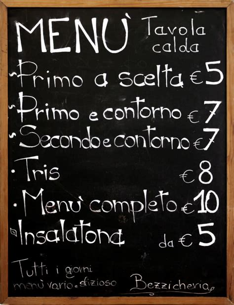 menu tavola calda bezzicheria pizzeria porta pia roma oggispendo acquisto