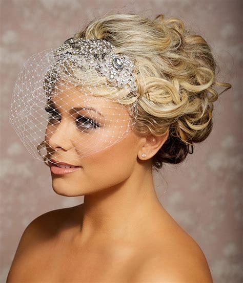 bridal hairstyles with birdcage veil bridal hair accessories gilded shadows weddingdates co