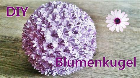 tischdeko papierblumen basteln blumenkugel papierblumen basteln diy