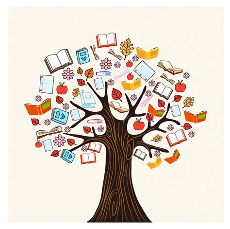 the tree picture book diversity knowledge book tree free vector 4vector