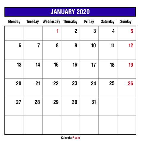 printable calendar  monthly monday start  calendar printable