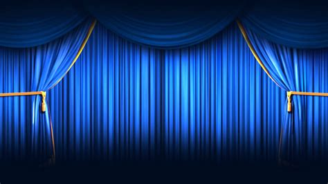Blue Curtains Stage Curtain Wallpaper Wallpapersafari