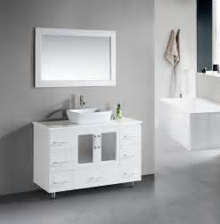 white bathroom vanity with vessel sink stanton 48 inch white bathroom vanity porcelain vessel sink