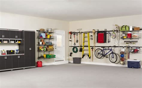 how to organize a garage rubbermaid fasttrack garage organization system