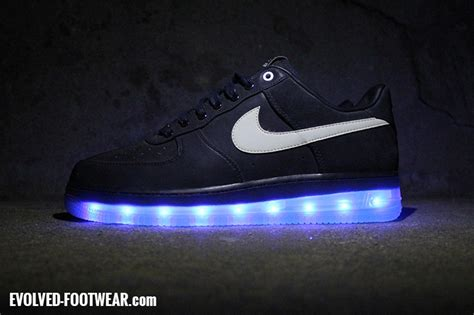 light up nike shoes nike air 1 that lights up with leds evolved