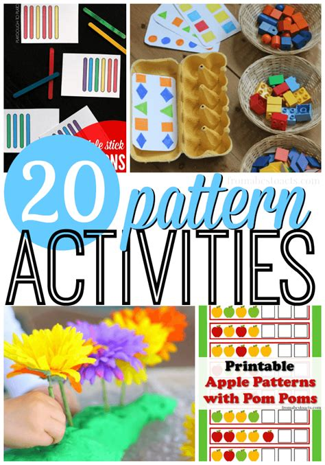 interactive pattern games for preschoolers math patterns for preschool preschool cut and pastes