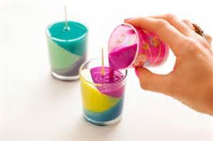 colorful candles how to make colorful diy candle lights at home