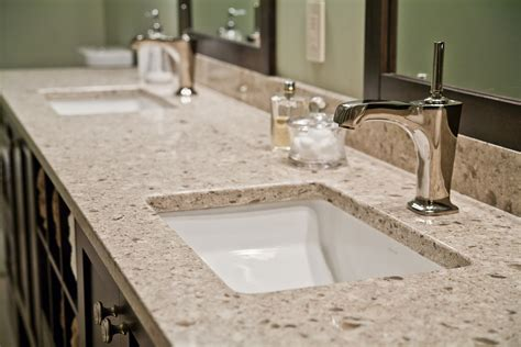 Granite Bathroom Countertops Granite Vs Quartz Countertops 187 Kitchen And