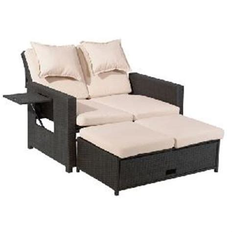 3 in 1 sofa testrut multifunktions rattan sofa 3 in 1 bahia 118x75x85