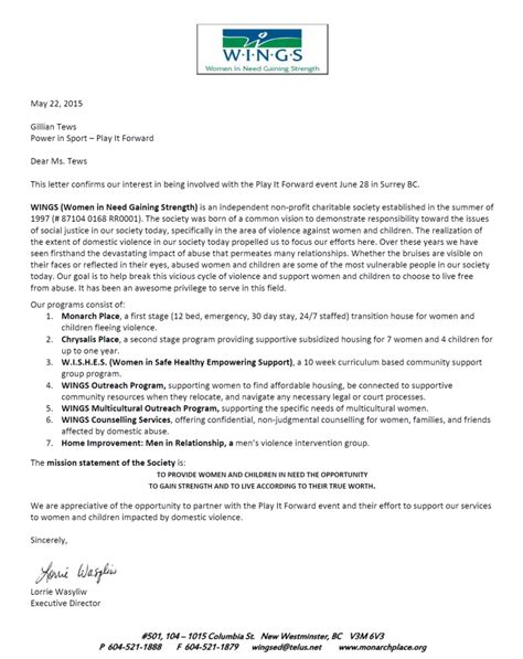 Endorsement Letter For Bank Loan 28 Charity Endorsement Letter Waiver Letter Sle Rachael Edwards Report Garvin