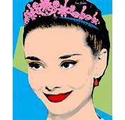 Audrey Hepburn Pop Art Blue Green Painting By Bao Studio