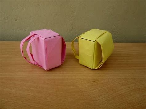 How To Make Paper Backpack - how to make a paper backpack easy tutorials