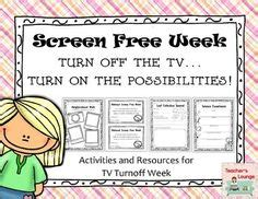 Tv Turnoff Week Essay by 1000 Images About April Activities On Welcome Autism Awareness And Detox Week