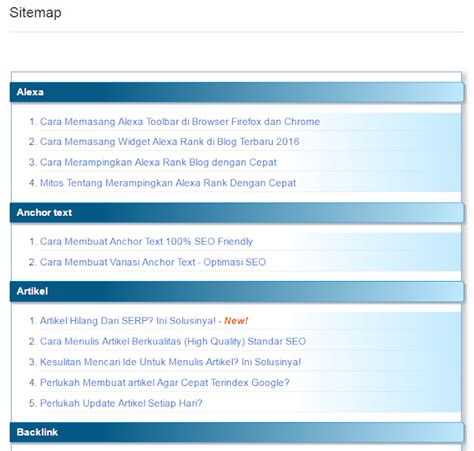 membuat web replika cara membuat sitemap otomatis di blog paling mudah
