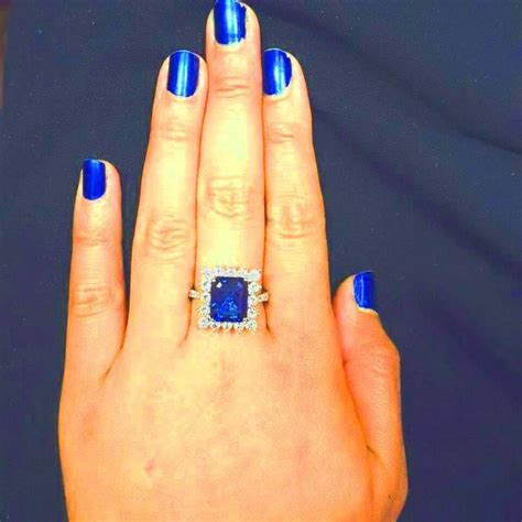 Blue Sapphire 6 88 Carat 6 88 carat sapphire gold ring for sale at 1stdibs