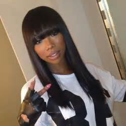 brandy the game hair cut 25 best ideas about sew in with bangs on pinterest