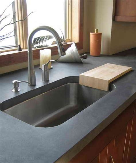 How Much Is Laminate Countertop by How To Finish Concrete Countertops Vizimac