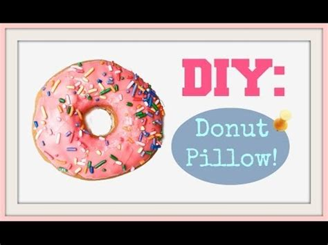Donut Pillow Diy by Diy Donut Pillow