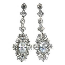 chandelier earrings elegance collection cubic zirconia
