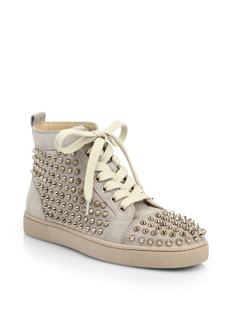 christian louboutin for sneakers christian louboutin louis studded suede high top
