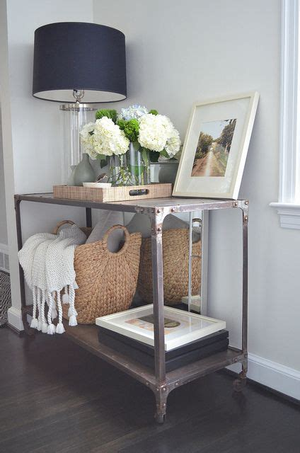 entry way table decor industrial console table from home decorators manning