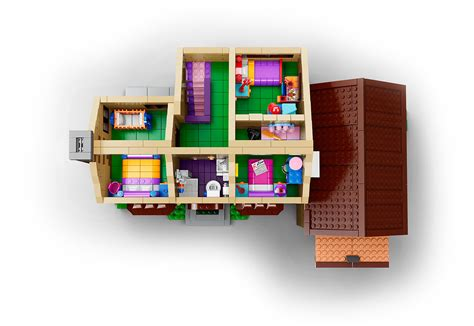 floor plan of the simpsons house lego 71006 the simpsons house la maison des simpson en