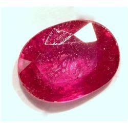 26 genuine ruby gemstone 2 5ct