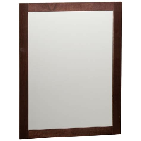 espresso mirrors bathroom shop style selections longshire 31 in h x 24 in w espresso