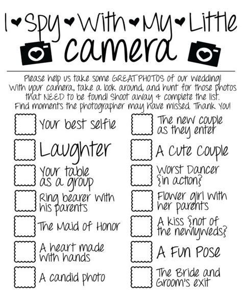 i spy wedding game photo checklist instant download