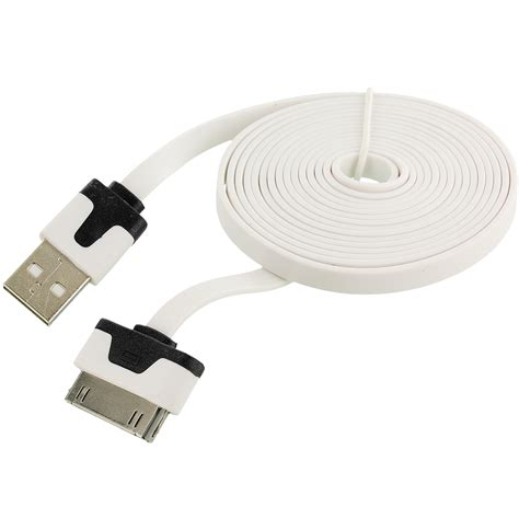 iphone f cable 2x 10 ft noodle flat usb sync data cable cord 3m for iphone 4 4s 3gs ipod touch ebay