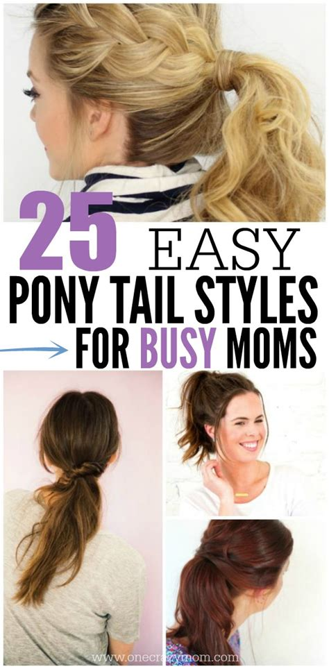 easy medium hairstyles for moms on the go easy hairstyles for moms photo dohoaso com