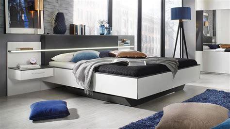 bett mit integriertem nachttisch schlafzimmer set elissa bett nachttisch schrank wei 223