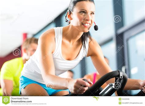 Spinning Bike Sport Id 9 2n spinning in the fitness stock photo