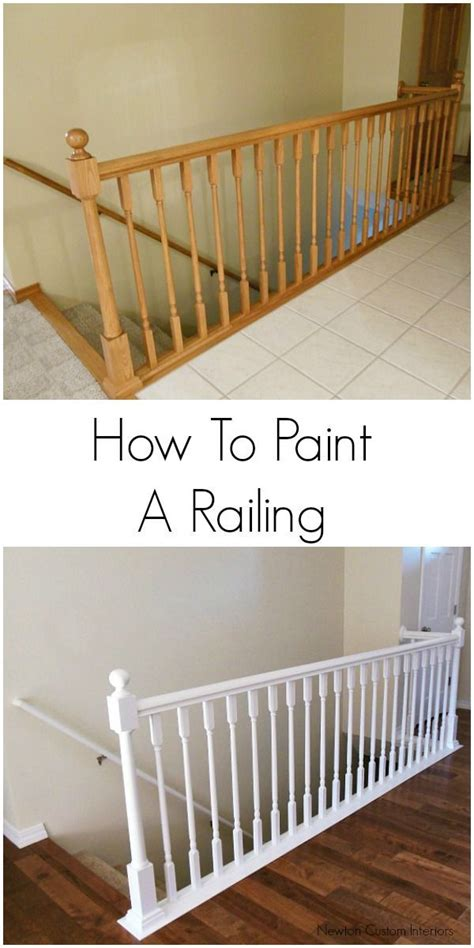 how to paint stair banisters best 25 painted stair railings ideas on pinterest
