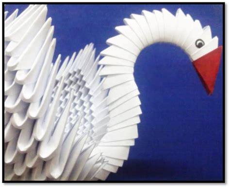 Origami 3d Swan Step By Step - make a 3d origami swan platter