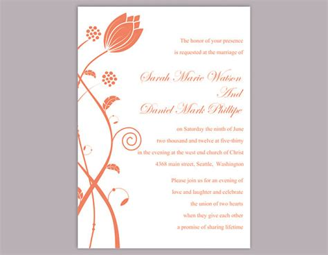 word templates for announcements diy wedding invitation template editable word file instant