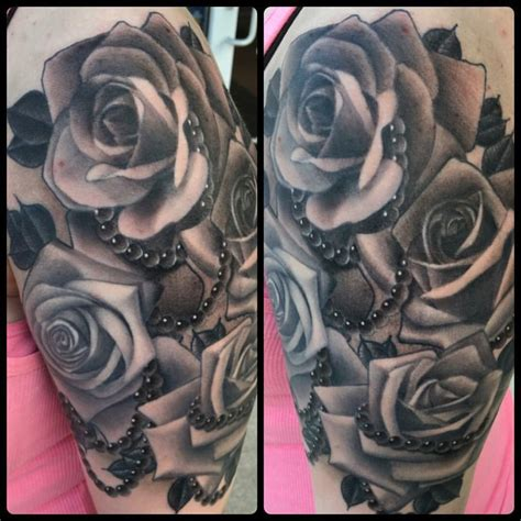 rose and rosary tattoo black and grey with rosary tattoos pictures to pin on