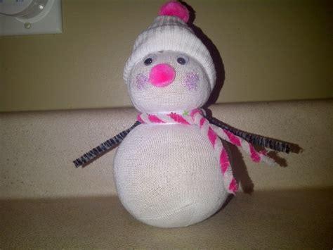 sock snowman craft sock friends sock
