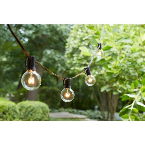 hton bay 24 light hanging garden clear string lights