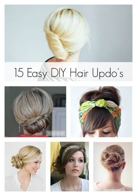 15 easy diy hair updo s artzycreations
