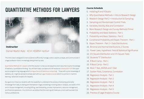 as data elements in quantitative and computational methods for the social sciences books quantitative methods for lawyers course materials