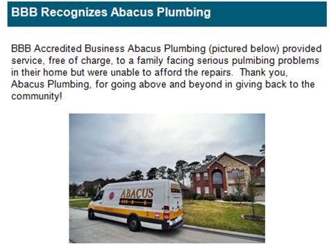 Abacus Plumbing by Bbb Recognizes Abacus Plumbing Air Condtioning And Electrical