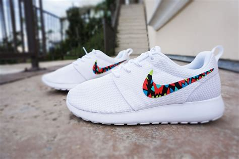 blue pattern nike roshe run womens custom nike roshe run sneakers white on white nike