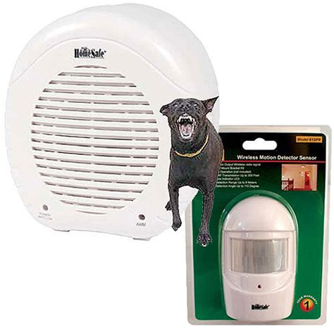 motion sensor bark electronic barking alarm w remote wireless motion sensor homesafe security