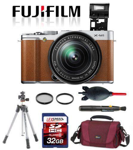 Fujifilm X M1 Kit 16 50mm 0riginal 100 fujifilm x m1 16 50mm brown vanguard tripod lowepro filters 32gb deluxe kit